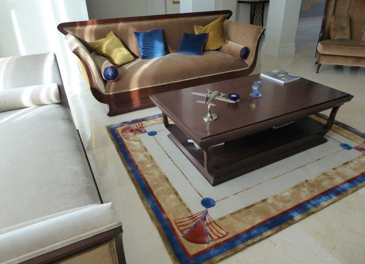 Art Deco Custom Lounge Room Floor Rug