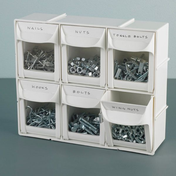 Modular Flip Out Bins From Container Store (for Nails U0026 Screws, Office  Supplies, Tiny Crafts, Or Even As A Tea Bag Display!)