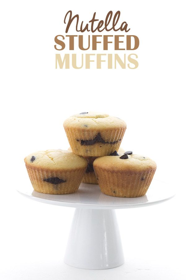 "Low Carb ""Nutella"" Stuffed Muffins. Homemade sugar-free chocolate hazelnut spread baked right in! Keto THM LCHF Banting Atkins recipe. via @dreamaboutfood"