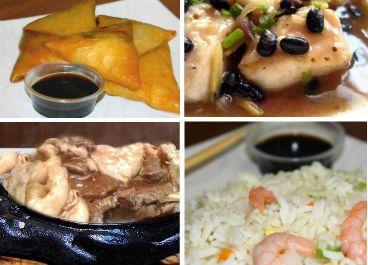 Menú Especial para 2A $16.900 1 Camarón Mandarín 1 Tepanyaki Surtido 1 Pollo Tausí 2 Arroz Chaufán Especial