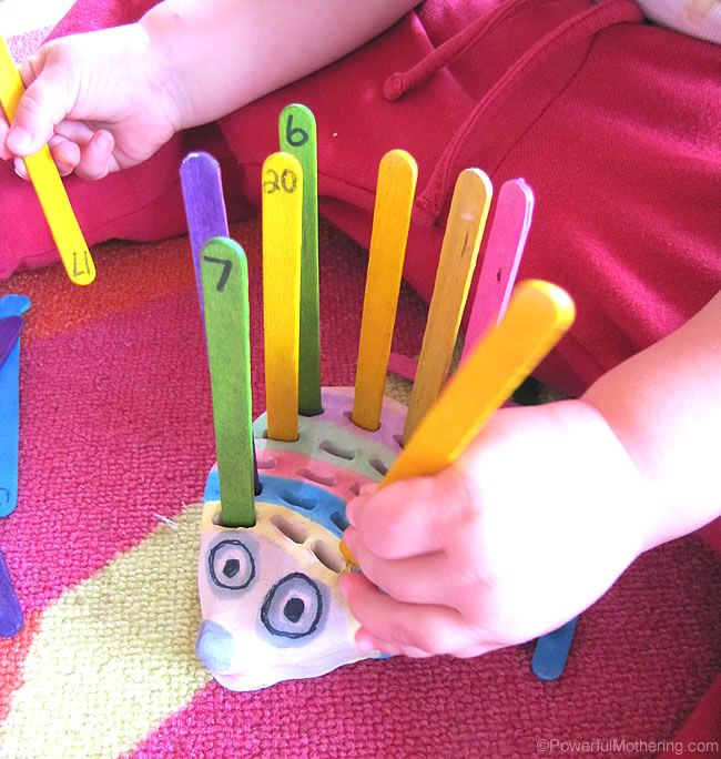 Hedgehog Fine Motor Skills and Counting