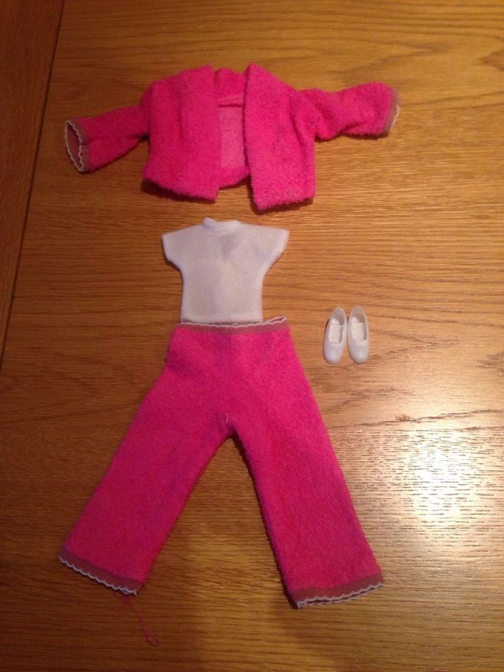 Sindy Doll Faerie Glen Pink Flannel Suit With Top & Shoes Vintage 1970/80's  | eBay