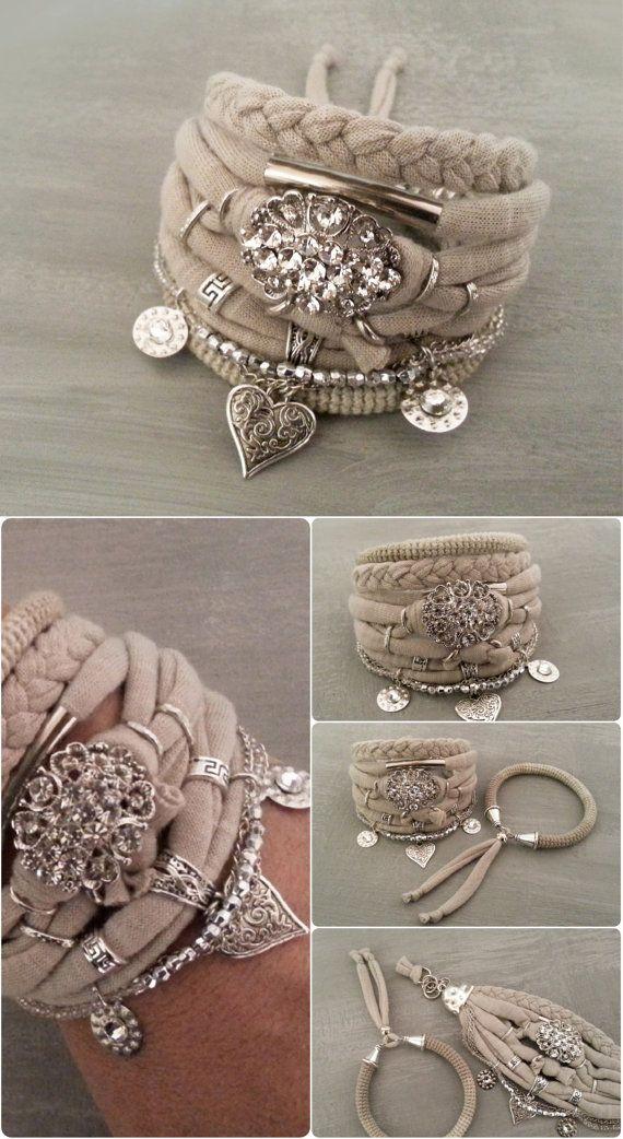 Bohemian Wedding Bracelet Boho Style Wedding by vanessahandmade
