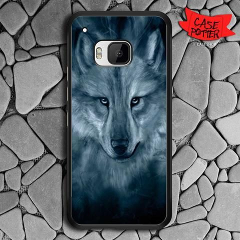 Wolf Painting HTC One M9 Black Case