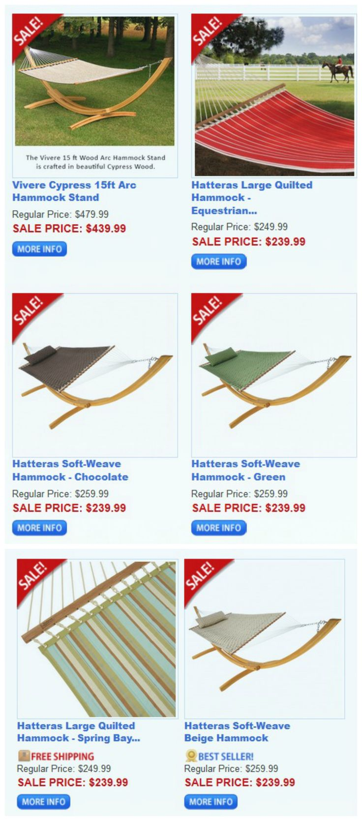 Summer Sale on selected hammocks, stands and accessories! See what's on sale here