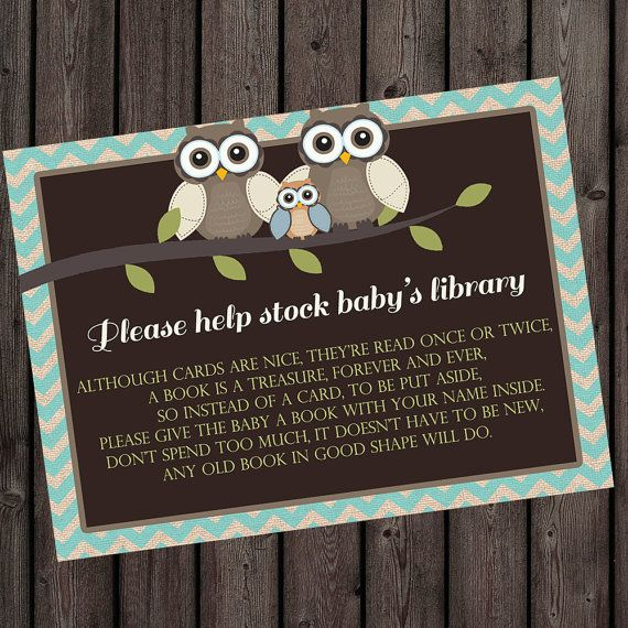 bring a book instead of a card insert baby shower invitation insert