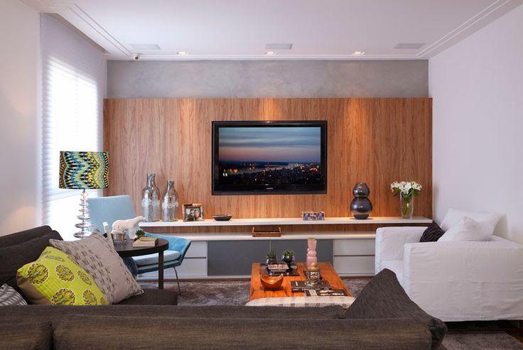Blog Decoracao Sala De Tv ~ tv sets home theater sala grande tv center with say that interior