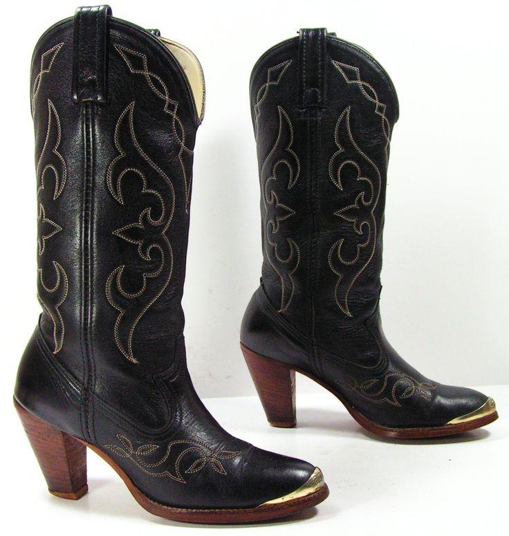 High top heeled cowboy boots