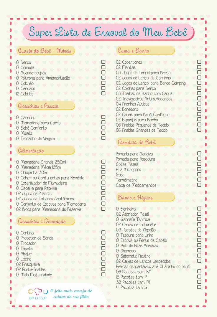 Super Lista de Enxoval