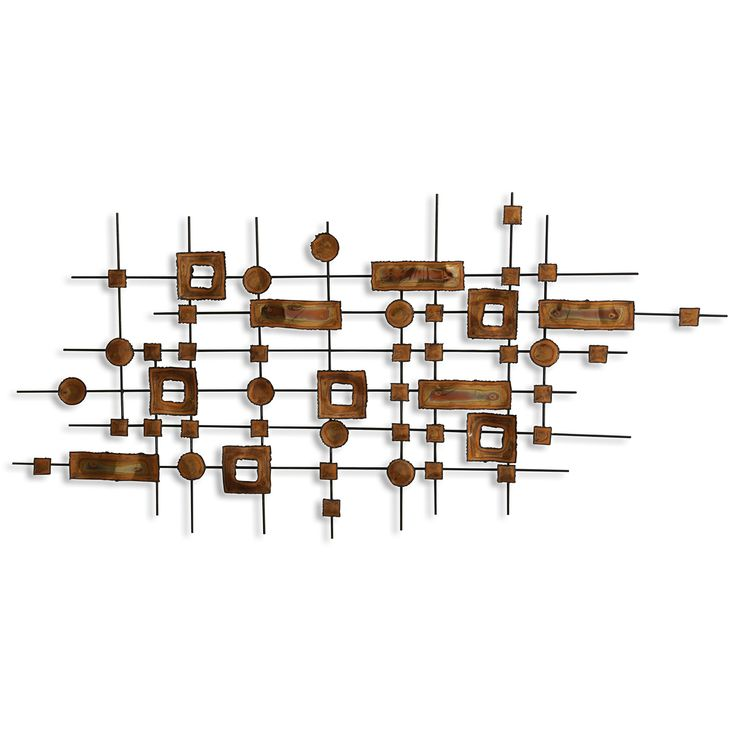 burnished metal wall sculpture