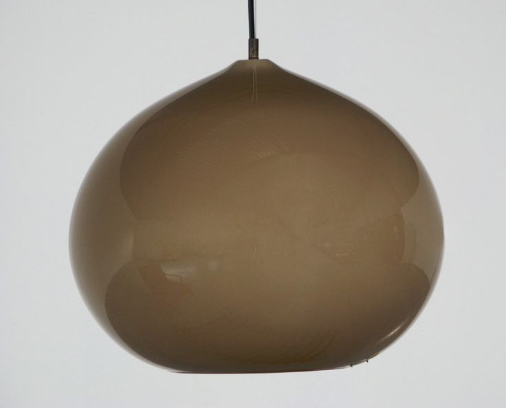 Vistosi brown onion ceiling lamp Italy 1970 | http://www.furniture-love.com/browse.php | From selection of important 20th century modern furniture. -- Great Christmas Holiday Gift