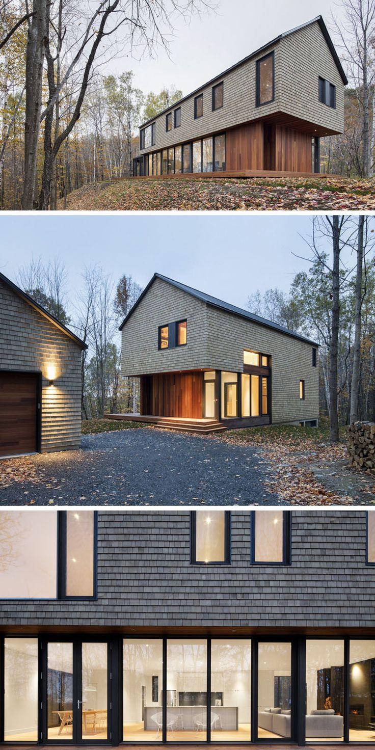 Moderne Fassaden - Architektenhaus mit Satteldach