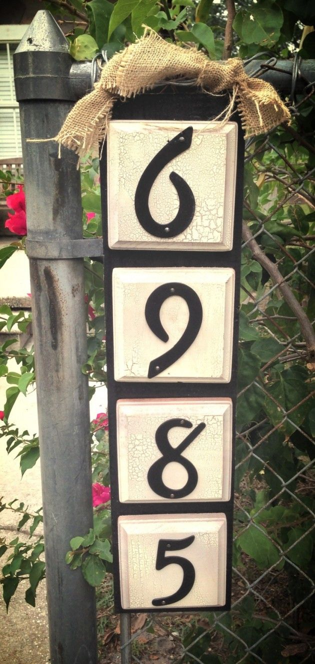 Best DIY ΠΙΝΑΚΙΔΕΣ ΜΕ ΑΡΙΘΜΟΥΣ Images On Pinterest Diy House - Best creative house number ideas