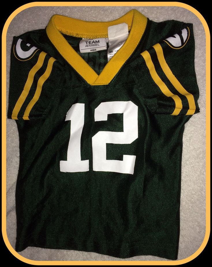 AARON RODGERS GREEN BAY PACKER TEAM APPAREL 18 MONTH JERSEY FREE SHIPPING #Reebok #GreenBayPackers