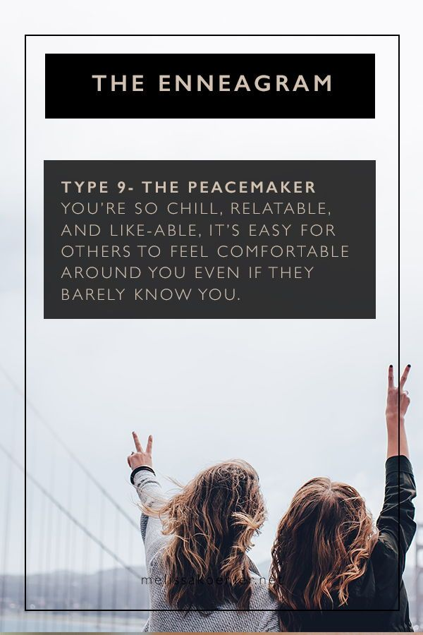 What's your type? I'm talking about the Enneagram, what are