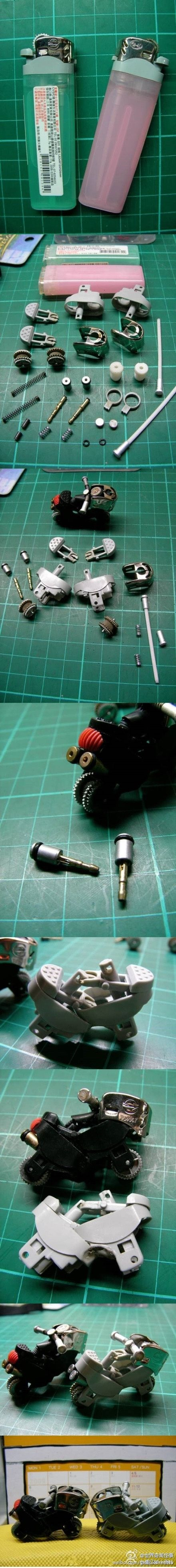 This is AWESOME. Lighter into motorcycle