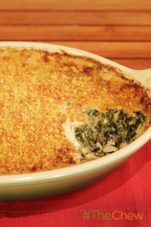 Michael Symon's creamed greens casserole is to die for!