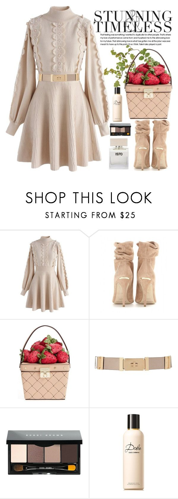 """Strawberry Fields"" by crblackflag on Polyvore featuring Chicwish, Burberry, Kate Spade, River Island, MANGO, Bobbi Brown Cosmetics, Dolce&Gabbana, Bella Freud and knitdress"