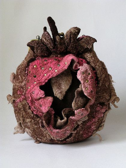 Nunofelted Bag 'Strawberry Original'