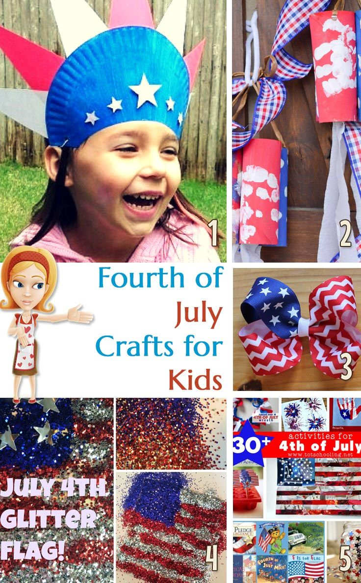 Check out these wonderful Fourth of July crafts for kids.   -Repinned by Totetude.com