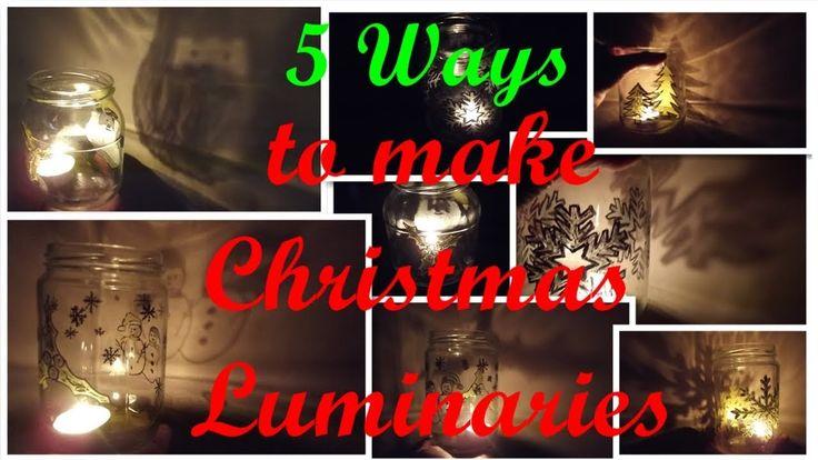 DIY Christmas Luminaries(5 Ways) Διακοσμητικά Κηροπήγια Χριστουγεννιάτικ...