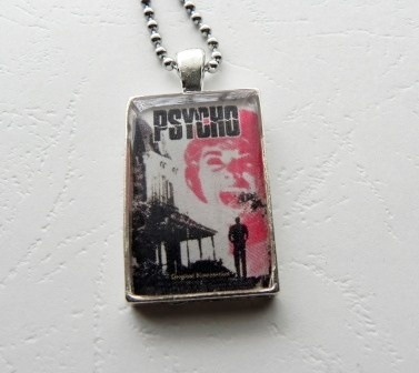 Alfred Hitchcock's Psycho Movie Poster Pendant, $15.00 by Annie By Design