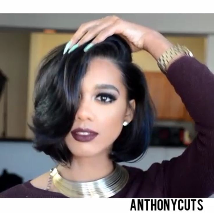 Black Hairstyles For Women Pinchrysanthia Johnson On Olred  Pinterest  Bobs Hair Style