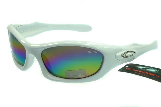 Oakley Active Sunglasses White Frame Rainbow Lens 0080