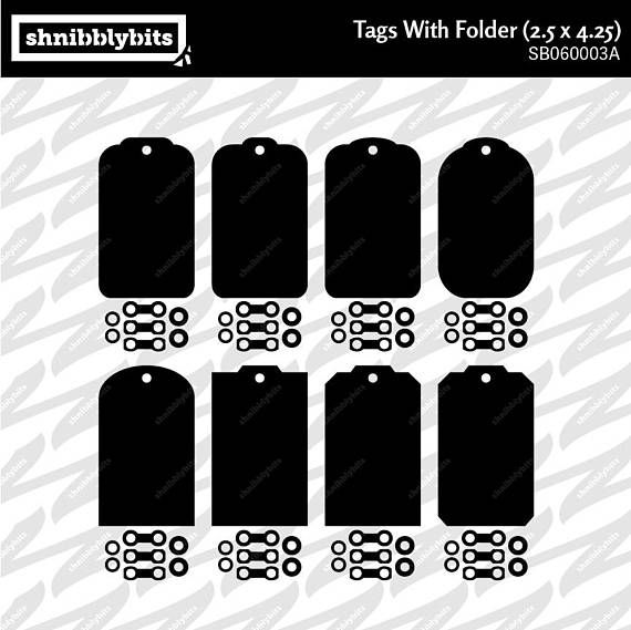 24 Tags with Folder 2.5x4.25