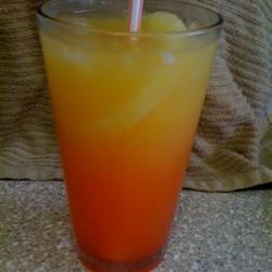 Bahama Mama With Rum, Rum, Grenadine Syrup, Orange Juice, Pineapple Juice, Crushed Ice