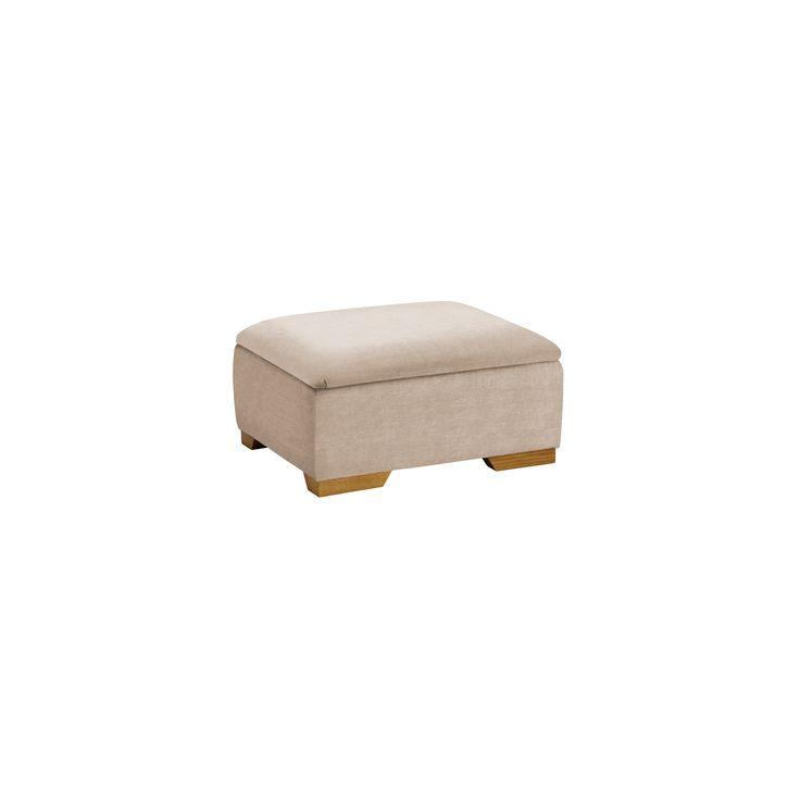 Jasmine Storage Footstool in Grace Linen
