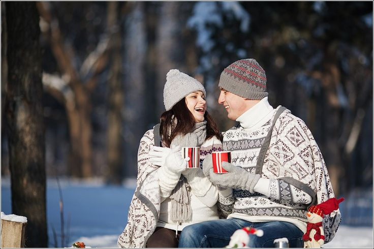 winter, nature walks, hot tea in a thermos, a couple sitting, wrapped in a blanket