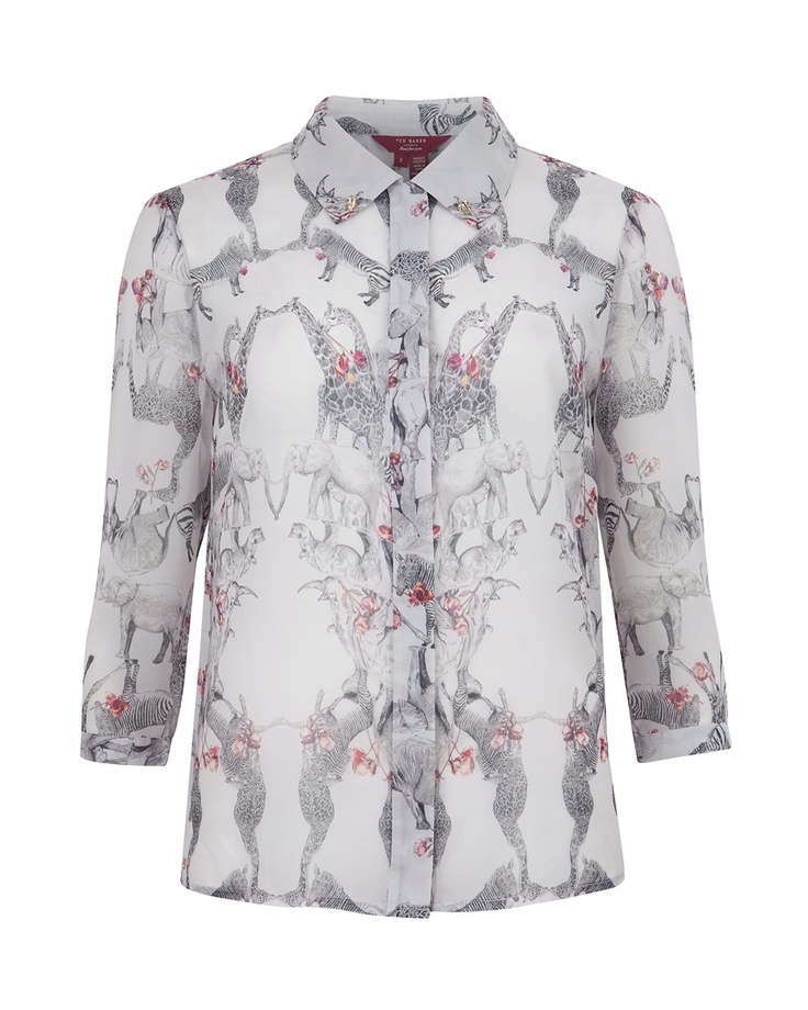 Monochrome Floral Woven T-shirt Ted Baker Cheap Sale Get To Buy New Online Get To Buy Cheap Price mlgpP5dXh
