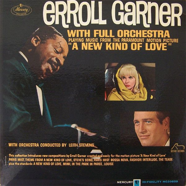 """Erroll Garner With Full Orchestra Conducted By Leith Stevens - Playing Music From The Paramount Motion Picture """"A New Kind Of Love"""": buy LP, Album, Mono at Discogs"""