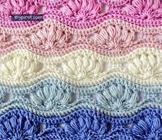 Crochet Ripple Puff Stitch Tutorial - (mypicot)* ~~ oh my, this is GORGEOUS!!!!! Definitely a stitch I want to learn.