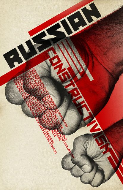 Russian Constructivism Poster by Dog on Fire, via Flickr