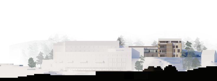 Architectural rendering + Facade collage // Illustrator + Photoshop // Arkitektkontoret Brekke Helgeland Brekke AS