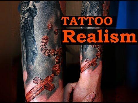 TATTOOS FOR MEN - REALISM - COLORS TATTOO  Мастер Алексей Михайлов, процесс нанесения татуировки в стиле реализм. Тату в цвете на руке (цветные татуировки), статуя зажившая спустя 1.5 месяца. Бусы, четки