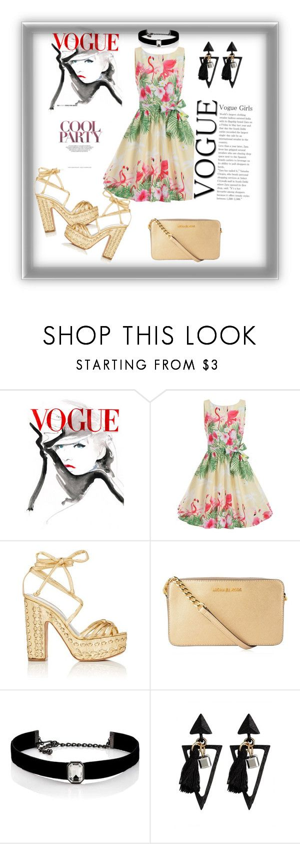 """Cool Party Floral"" by lisa-fischer-1 ❤ liked on Polyvore featuring Alchimia Di Ballin, MICHAEL Michael Kors and Kenneth Jay Lane"