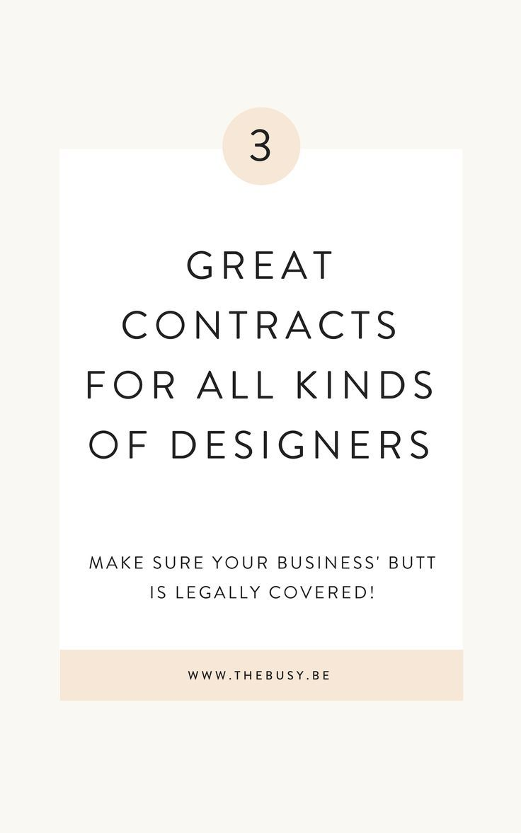 My 3 Favorite Contracts For Designers Graphic Design Clients