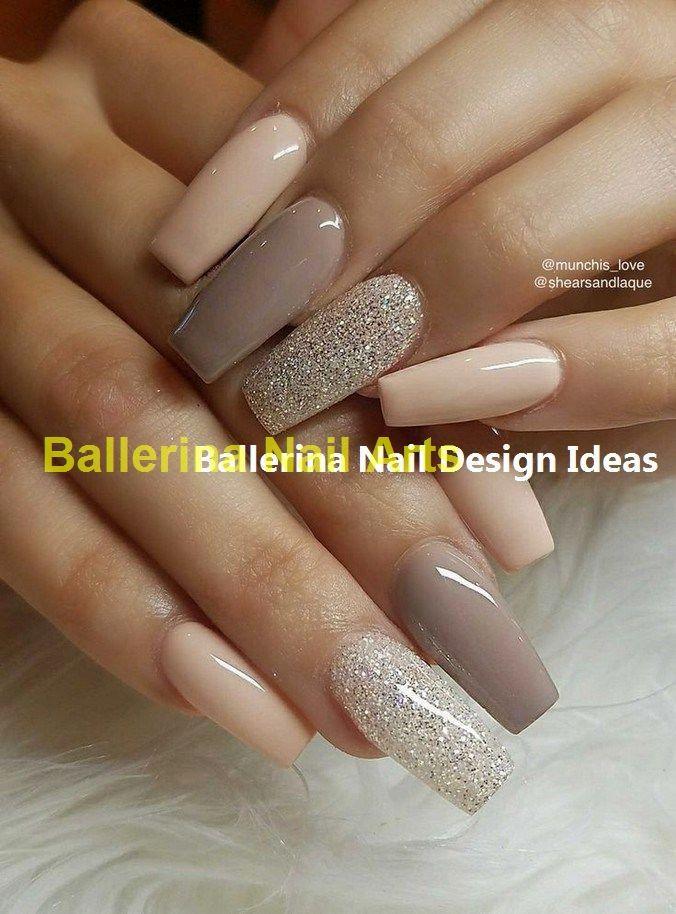 Trending Ballerina Nails Designs Ballerinanail Nailartideas Neutral Nail Designs Ballerina Nails Simple Nails