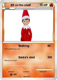 Make Your Own Elf on the Shelf Pokemon Card