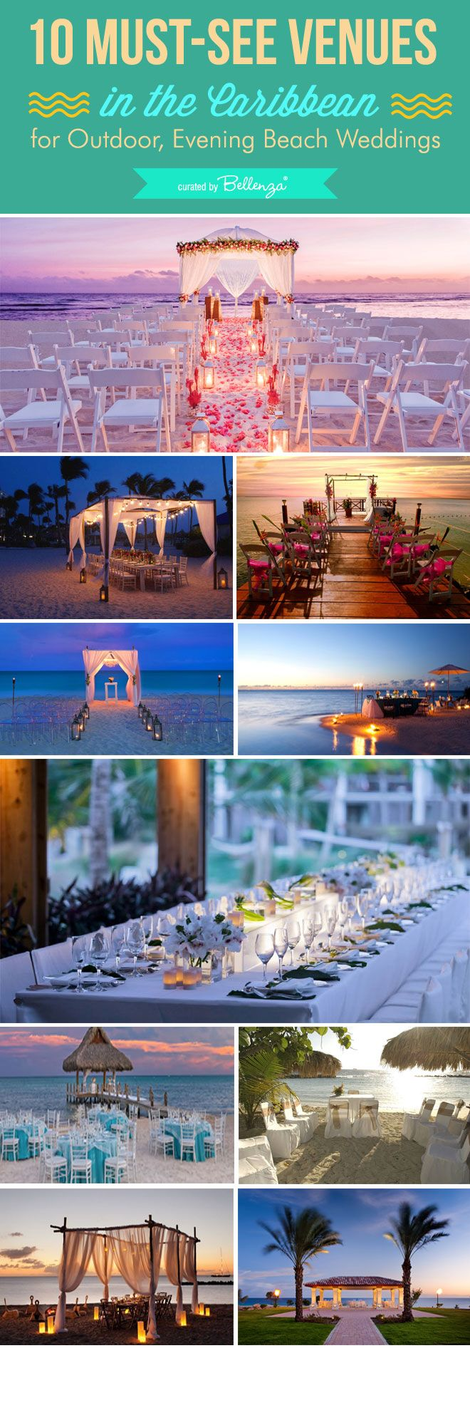 10 Must-See Caribbean Venues for Outdoor, Evening Beach Weddings