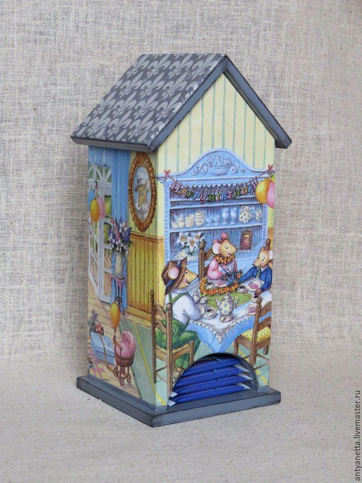 """Чайный домик """"С днем рождения, Пепита !"""" - серый, чайный домик"""