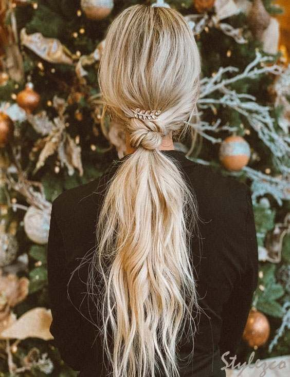 Knot Ponytail Hairstyle Trends To Look Chic In 2019 | Ponytail hairstyles, Knot ponytail ...