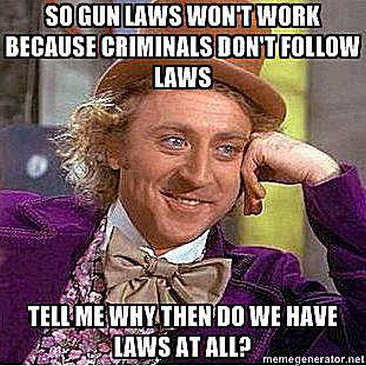 Anti-Gun Memes and Cartoons: Gun Laws Won't Work?