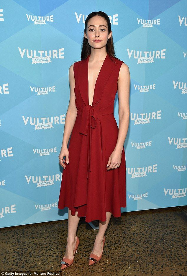 Playing with fire:Emmy Rossum ensured she would be making an unforgettable appearance as ...