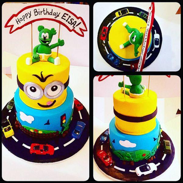 Резултат слика за gummibär birthday cake