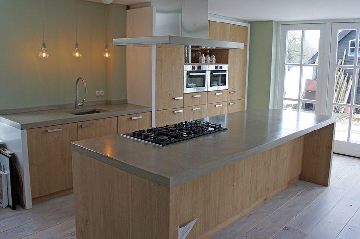 Keuken Met Betonnen Werkblad : Betonnen Keuken Werkbladen op Pinterest – Keuken Aanrecht, Betonnen