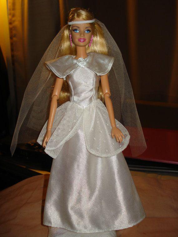 6846 best barbie images on pinterest barbie doll barbie for Barbie wedding dresses for sale